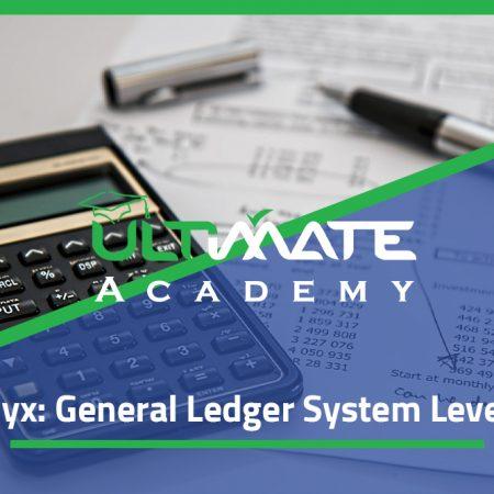 Onyx: General Ledger System Level 1